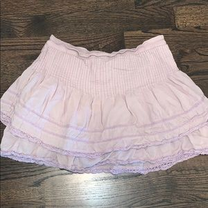 Free People Two-Tiered Mini Skirt Size 12